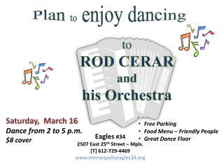 Plan  to  enjoy dancing