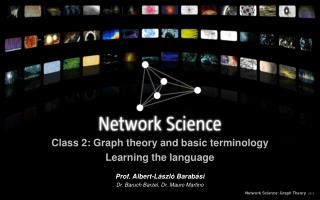 Class 2: Graph theory and basic terminology Learning the language