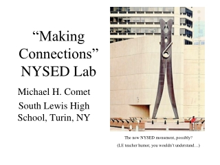 Making Connections   NYSED Lab