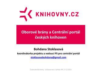 Oborové brány a Centrální portál českých knihoven