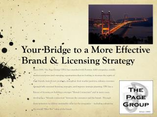 Your Bridge to a More Effective Brand & Licensing Strategy