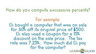 How do you compute successive  percents ?