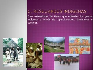 C. Resguardos Ind genas