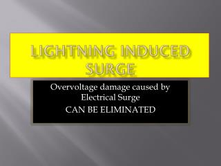 Lightning Induced Surge