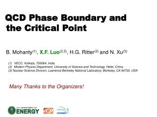 QCD Phase Boundary and   the Critical Point