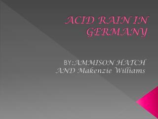 ACID RAIN IN GERMANY