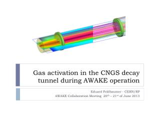 Gas activation in the CNGS decay tunnel during AWAKE operation