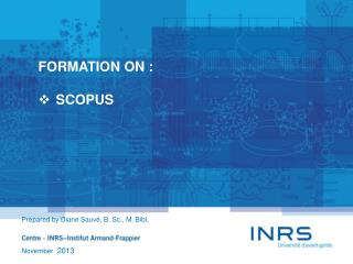 FORMATION ON : SCOPUS