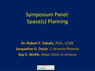 Symposium Panel: Space(s) Planning