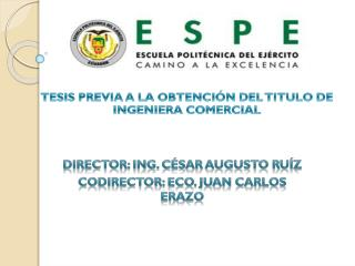 TESIS PREVIA A LA OBTENCIÓN DEL TITULO DE INGENIERA COMERCIAL