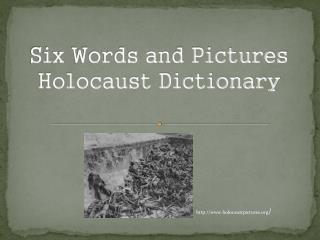 Six Words and Pictures Holocaust Dictionary