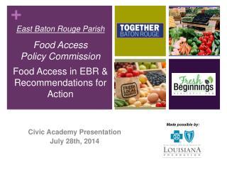 Civic Academy Presentation July 28th, 2014