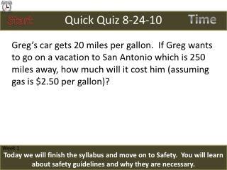 Quick Quiz 8-24-10