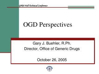 OGD Perspectives
