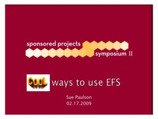 ways to use EFS