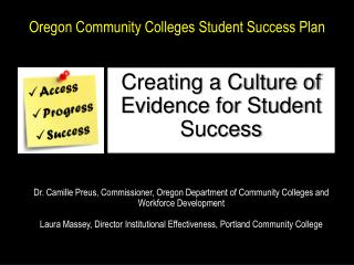 Oregon Community Colleges Student Success Plan