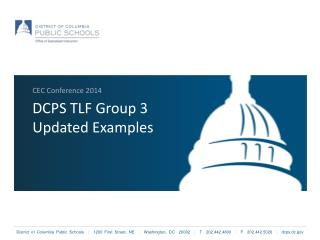 DCPS TLF Group 3 Updated Examples