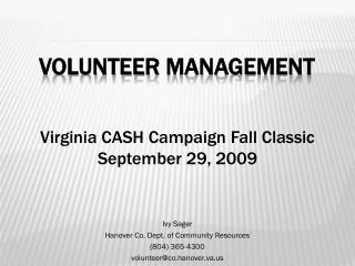 Volunteer Management