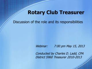 Rotary Club Treasurer