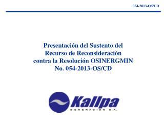 054-2013-OS/CD