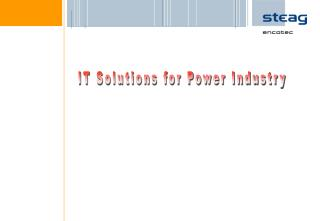 IT Solutions for Power Industry
