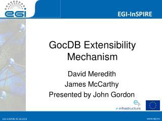 GocDB Extensibility Mechanism