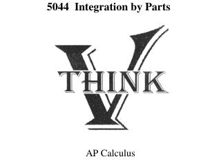 5044  Integration by Parts