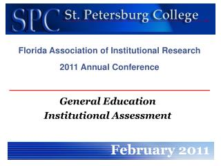 General Education  Institutional Assessment