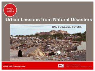 Urban Lessons from Natural Disasters