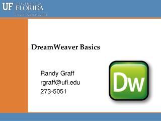 DreamWeaver  Basics