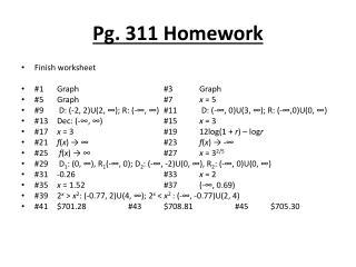 Pg. 311 Homework