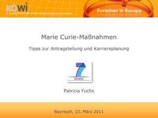 Marie Curie-Ma�nahmen Tipps zur Antragstellung und Karriereplanung