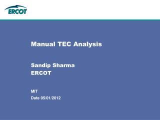 Manual TEC Analysis