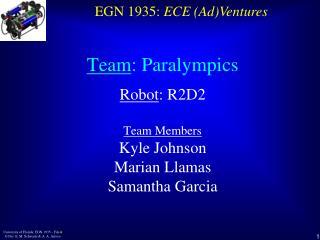 Team :  Paralympics