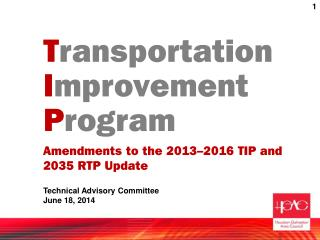 T ransportation I mprovement  P rogram