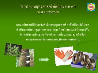 (ร่าง) แผนยุทธศาสตร์พัฒนายางพารา  พ.ศ.2552-2556
