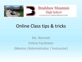 Online Class tips & tricks