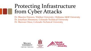 Protecting Infrastructure from Cyber Attacks