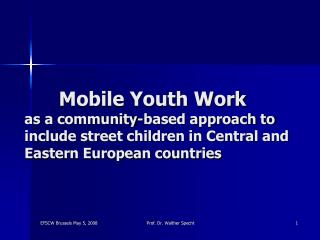 Mobile Youth Work  as a community-based approach to include street children in Central and Eastern European countries