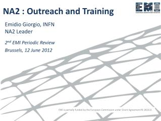 NA2 : Outreach and Training