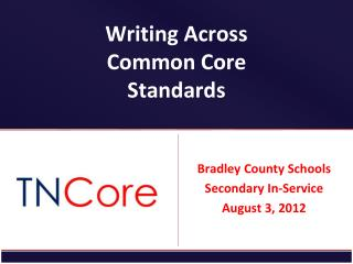 Writing Across Common Core Standards