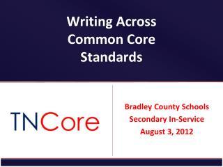 Writing Across Common Core Standards
