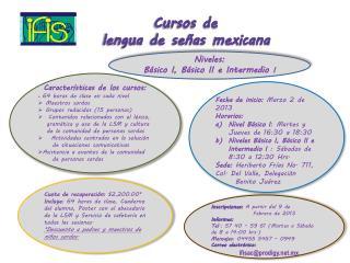 Cursos de     lengua de señas mexicana