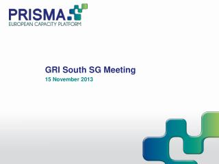 GRI South SG Meeting 15 November 2013