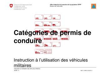 Instruction à l'utilisation des  véhicules militaires
