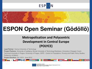 ESPON Open Seminar ( Gödöllö )