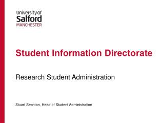 Student Information Directorate