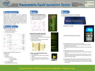 Parametric Fault Isolation Tester