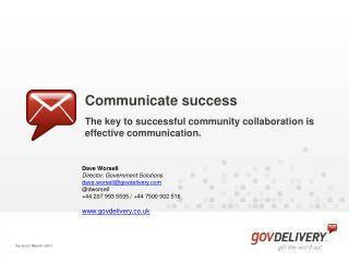 Communicate success