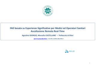 FAD basata su Esperienze Significative per Medici ed Operatori Sanitari